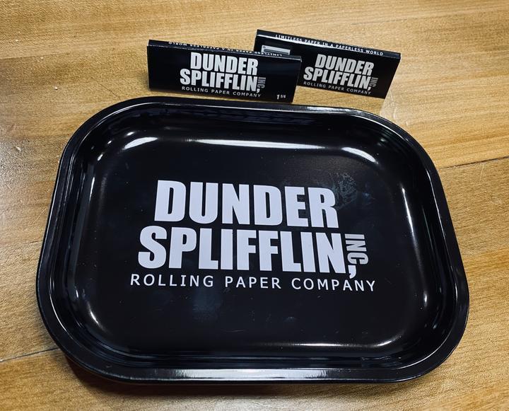 Dunder Splifflin Tin Rolling Tray